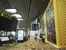 Changi Lotniskowy Terminal 4, Singapur Zdjęcia Stock