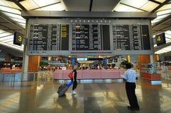 changi lotniskowy wnętrze Singapore Fotografia Stock