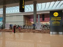 Changi luchthaven Eindopendeurdag 4 Royalty-vrije Stock Afbeeldingen