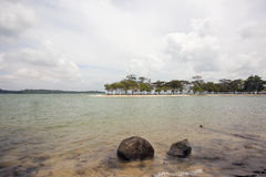 Changi Point Beach with Ubin Island View Royalty Free Stock Photo