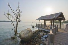 Changi Point Coastal Boardwalk of Singapore Royalty Free Stock Image
