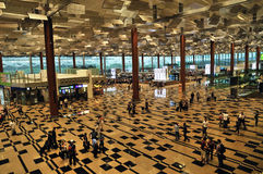 changi singapore för 3 flygplats terminal Royaltyfri Foto