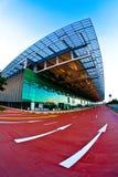 changi singapore för 3 flygplats terminal Arkivbild