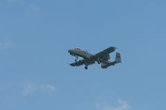 Changi, Singapore - 6,2010 Februari: De USAF a-10 Blikseminslag II vechter Stock Afbeeldingen