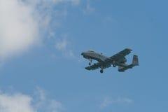Changi, Singapore - 6,2010 Februari: De USAF a-10 Blikseminslag II vechter Royalty-vrije Stock Afbeelding
