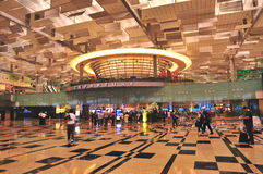 changi singapore för 3 flygplats terminal Royaltyfri Bild