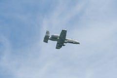 Changi, Singapour - fév. 6,2010 : Combattant du coup de foudre II de l'U.S. Air Force A-10 Photos stock