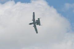 Changi, Singapour - fév. 6,2010 : Combattant du coup de foudre II de l'U.S. Air Force A-10 Photo libre de droits