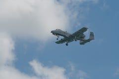 Changi, Singapour - fév. 6,2010 : Combattant du coup de foudre II de l'U.S. Air Force A-10 Photographie stock