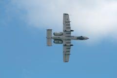 Changi, Singapour - fév. 6,2010 : Coup de foudre II de l'U.S. Air Force A-10 Photos libres de droits