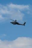 Changi Singapur, Feb, - 6,2010: RSAF AH-64 Apache śmigłowiec szturmowy Zdjęcie Royalty Free
