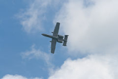 Changi Singapur, Feb, - 6,2010: USAF siły powietrzne A-10 piorunu II wojownik obrazy royalty free