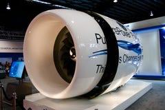 Changi, Singapur - febrero 6,2010: Motor de Pratt y de Whitney Jet Imagen de archivo