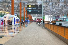3 Changi terminalu portów lotniczych Zdjęcia Royalty Free