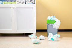 Changing baby nappies Stock Image