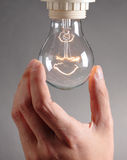 Changing bulb Royalty Free Stock Photography