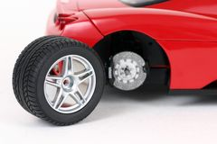 Changing the car wheel stock photo