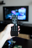 Changing channels Royalty Free Stock Photo