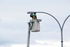 Changing City Street Lights Stock Images