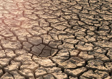 Changing of the climate. Background of cracked soil. Royalty Free Stock Image