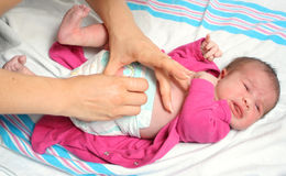 Changing diaper Royalty Free Stock Photography