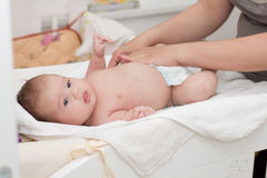 Changing Diaper Stock Photos