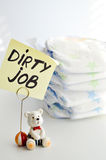 Changing diapers is a dirty job Stock Photo