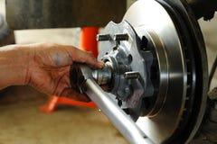 Changing disk brake Royalty Free Stock Photo