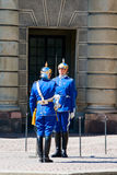 Changing of the Guard. In the square outside the royal palace in Stockholm Stock Image