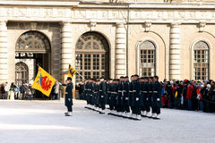 Changing of the Guard. STOCKHOLM 05-12-2010: Changing of the Guard - a daily event from the Swedish Royal Palace, from 05-12-2010r in Stockholm, Sweden Royalty Free Stock Image