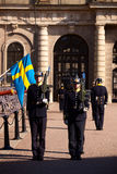 Changing of the Guard. At Swedish Royal Palace Royalty Free Stock Images