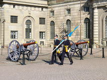 Changing of the Guard. At Swedish Royal Palace Royalty Free Stock Photography