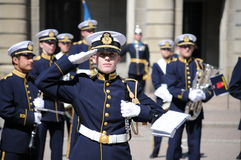 Changing of the Guard. Military band performing during Changing of the Guard ceremony royalty free stock photography
