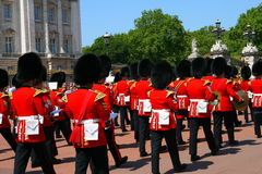 Changing of the guard. The queens changing of the guard at Buckingham Palace London UK stock photography