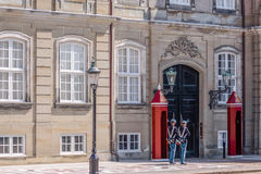 Changing of the guard at Amalienborg Palace Royalty Free Stock Images