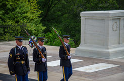 Changing of the Guard at Tomb Unknown Soldier - Arlington Cemetery Royalty Free Stock Photos