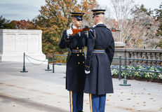 Changing of the Guard Arlington Cemetery Va Stock Image