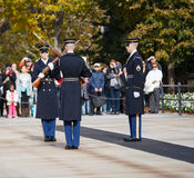 Changing of the Guard Arlington Cemetery Va Royalty Free Stock Photography