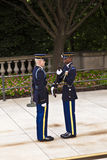Changing the guard at Arlington Royalty Free Stock Photo