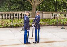 Changing the guard at Arlington Royalty Free Stock Photo