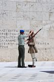 Changing of the guard in Athens Royalty Free Stock Image