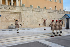 Changing the Guard in Athens Stock Images