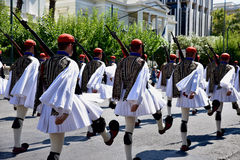 Changing of the guard in Athens Greece Royalty Free Stock Photos