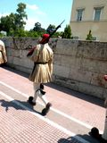 Changing of the guard in Athens. To the Parliament Palast. Nice costume. Tradition in Greece Stock Image