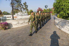 Changing the guard in Bang Pa In Stock Photo