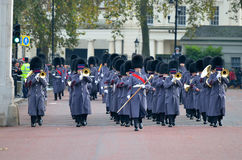 Changing of the guard in Buckingham Palace.  Stock Image