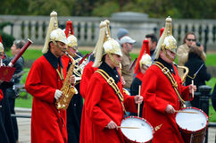 Changing of the guard in Buckingham Palace Royalty Free Stock Photo