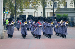 Changing of the guard in Buckingham Palace.  Stock Photography