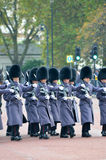 Changing of the guard in Buckingham Palace Royalty Free Stock Images