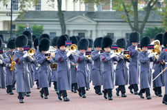 Changing of the guard in Buckingham Palace.  Royalty Free Stock Image